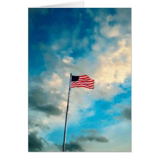 Tarjeta Bandera hecha andrajos en vientos del cambio