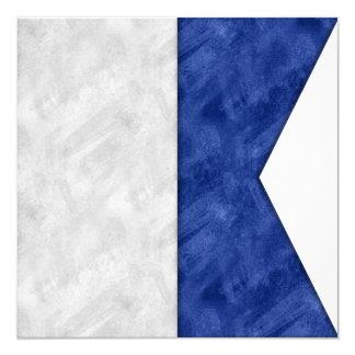 Tarjeta Bandera marítima de la señal náutica de la