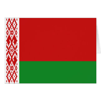 Tarjeta Bandera Notecard de Bielorrusia