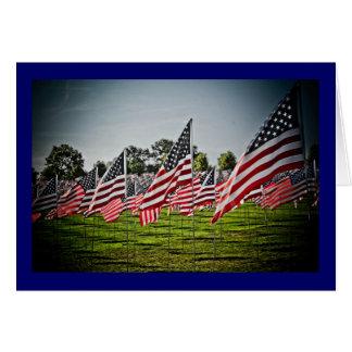Tarjeta Banderas en el arte Hill-9-11