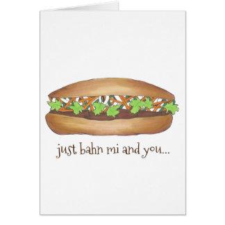 Tarjeta Banh MI (entre mí) y usted bocadillo vietnamita