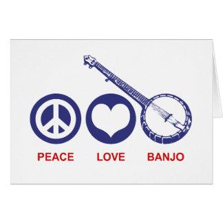 Tarjeta Banjo del amor de la paz
