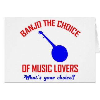 Tarjeta Banjo la opción de amantes de la música