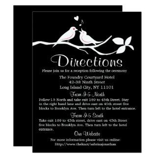 Tarjeta Banquete de boda blanco y negro de los Lovebirds