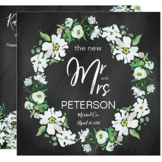 Tarjeta Banquete de boda floral del poste de la tipografía