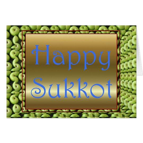 Tarjeta Banquete judío de Sukkot del banquete de