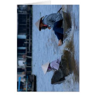 Tarjeta Barco de río vietnamita