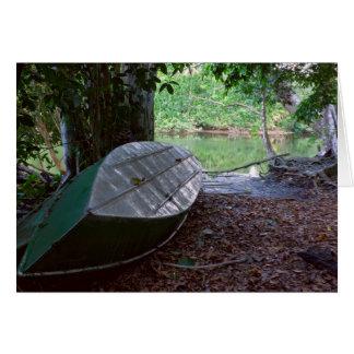 Tarjeta Barco en el parque nacional de Corcovado