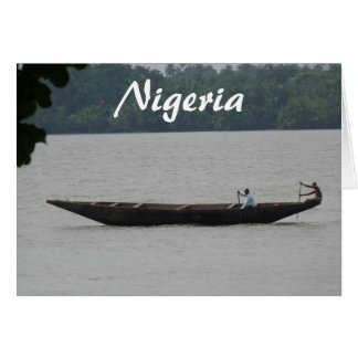 Tarjeta Barco nigeriano