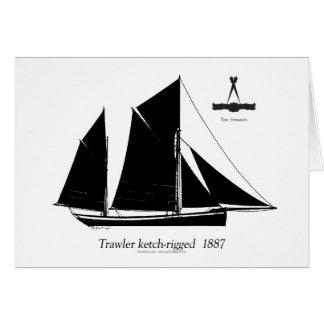 Tarjeta barco rastreador 1887 ketch-aparejado - fernandes