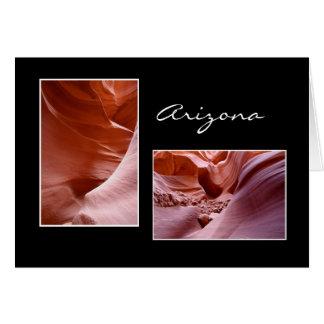 Tarjeta Barranco Arizona del antílope