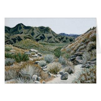 Tarjeta Barranco del desierto