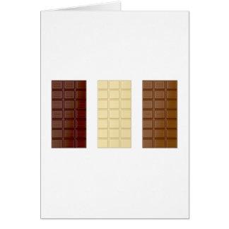 Tarjeta Barras de chocolate