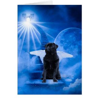 Tarjeta Barro amasado en cielo como condolencia del ángel