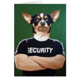 Tarjeta Barry el guardia de seguridad