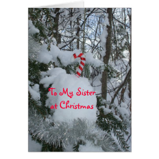 Tarjeta Bastón del Navidad-Caramelo de la hermana