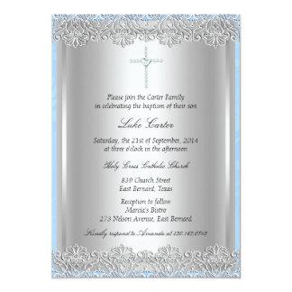 Tarjeta Bautismo del cordón y de la cruz/invitación del