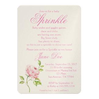 Tarjeta Bebé color de rosa