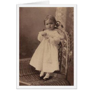 Tarjeta Bebé del vintage