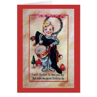 Tarjeta Bebé Toting el botín de Navidad