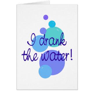 Tarjeta Bebí el agua