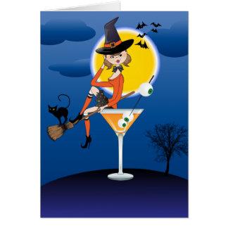 Tarjeta Bebida encima de brujas