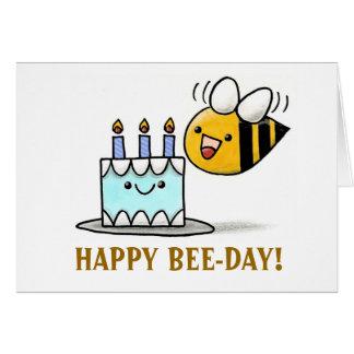 Tarjeta ¡BEE-DAY beeday, FELIZ!