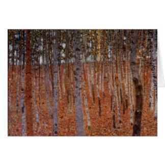 Tarjeta Beechwood-Bosque de Klimt