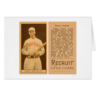 Tarjeta Béisbol 1912 de Hank Gowdy Braves
