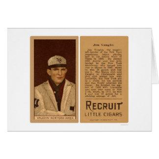 Tarjeta Béisbol 1912 de los yanquis de Vaughn del
