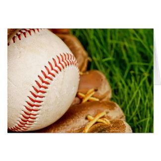Tarjeta Béisbol con el mitón