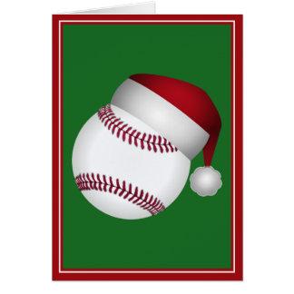 Tarjeta Béisbol del navidad