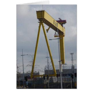 Tarjeta Belfast Gaint amarillo