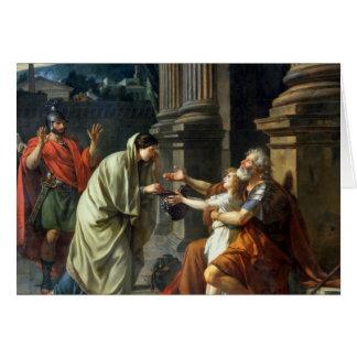 Tarjeta Belisarius que pide limosnas, 1781