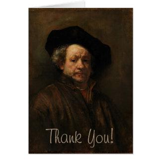 Tarjeta Bella arte del autorretrato de Rembrandt Van Rijn