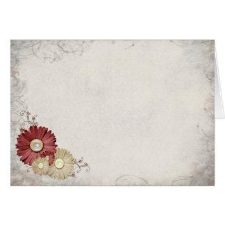 Tarjeta Belleza floral marrón y beige