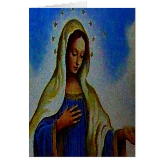 Tarjeta bendecida del Virgen María