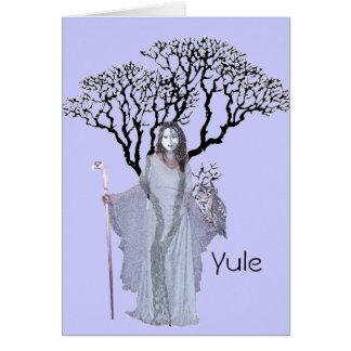 Tarjeta Bendiciones de Yule - de Hecate