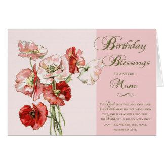 Tarjeta Bendiciones del cumpleaños a una mamá especial