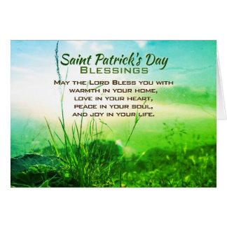 Tarjeta Bendiciones del día de San Patricio, rezo irlandés
