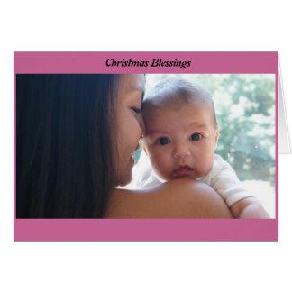 Tarjeta Bendiciones del navidad