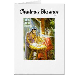Tarjeta Bendiciones del navidad del vintage