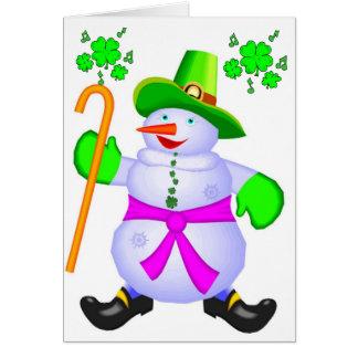 Tarjeta Bendiciones Tarjeta-Irlandesas Irlanda del navidad