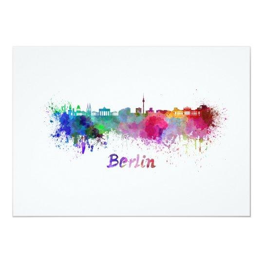 Tarjeta Berlin skyline in watercolor