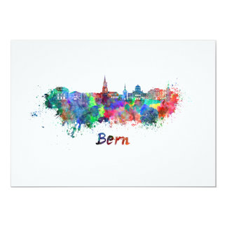 Tarjeta Bern skyline in watercolor