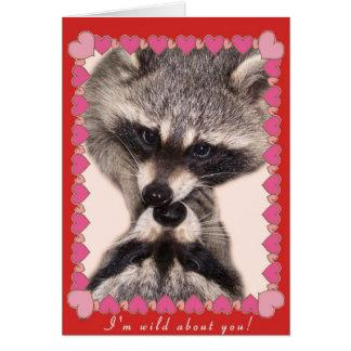 Tarjeta Besar mapaches