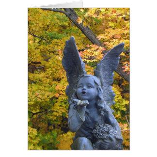 Tarjeta Beso del ángel de la condolencia