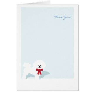 Tarjeta Bichon Frise le agradece Notecard de encargo