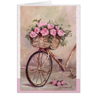 Tarjeta Bici atractiva del vintage