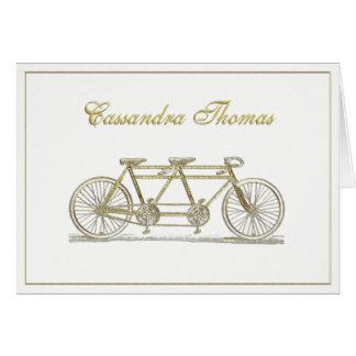 Tarjeta Bicicleta de oro construida para dos el marco H